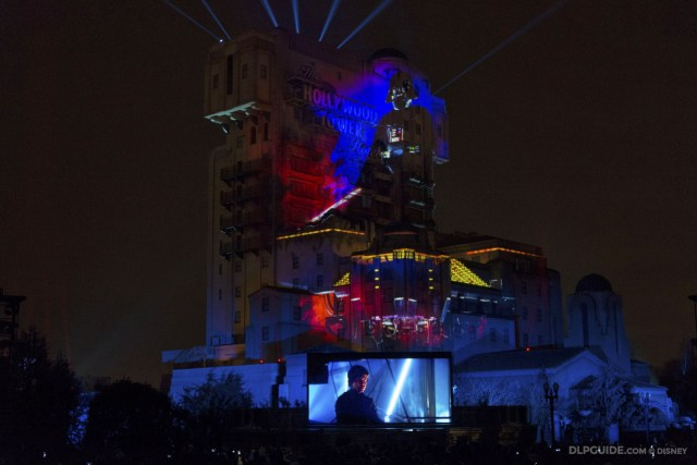 Darth Vader and Luke Skywalker clash at Cloud City in The Empire Strikes Back - Star Wars: A Galactic Celebration at Disneyland Paris Season of the Force