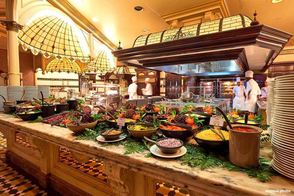Plaza Gardens Restaurant buffet at Disneyland Paris