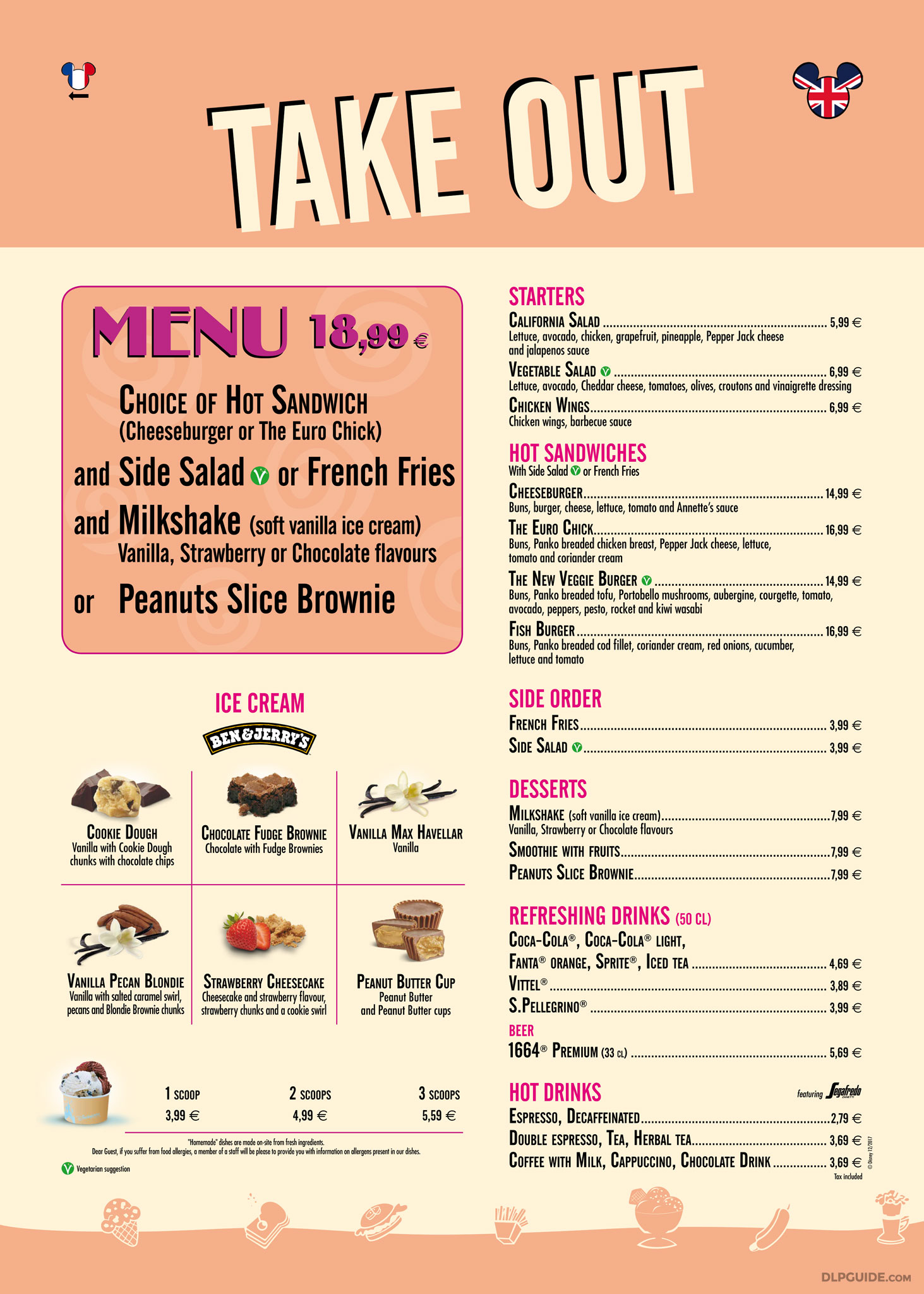 Annette 39 s diner take out menu dlp guide disneyland for Take out menu