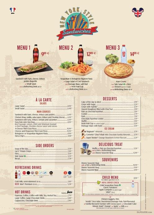 New York Style Sandwiches menu