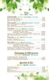 Crockett's Tavern, Disney's Davy Crockett Ranch menu