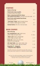 Club House Grill menu
