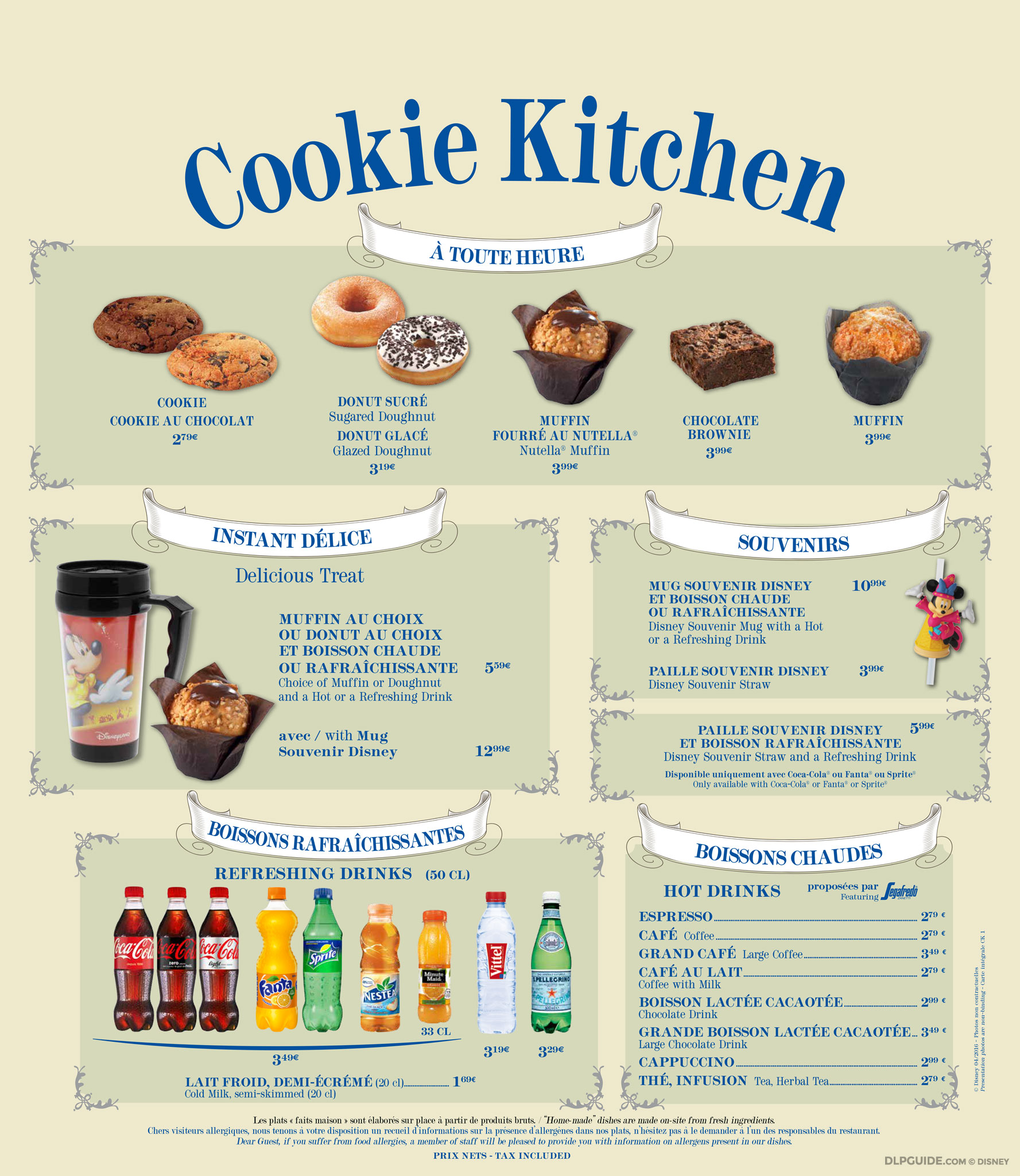 Cookie Kitchen Menu Dlp Guide Disneyland Paris
