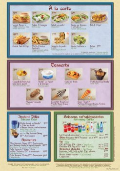 Toad Hall Restaurant menu