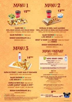 Fuente del Oro Restaurante menu