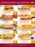 Earl of Sandwich menu