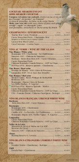 Cape Cod, Disney's Newport Bay Club drinks menu