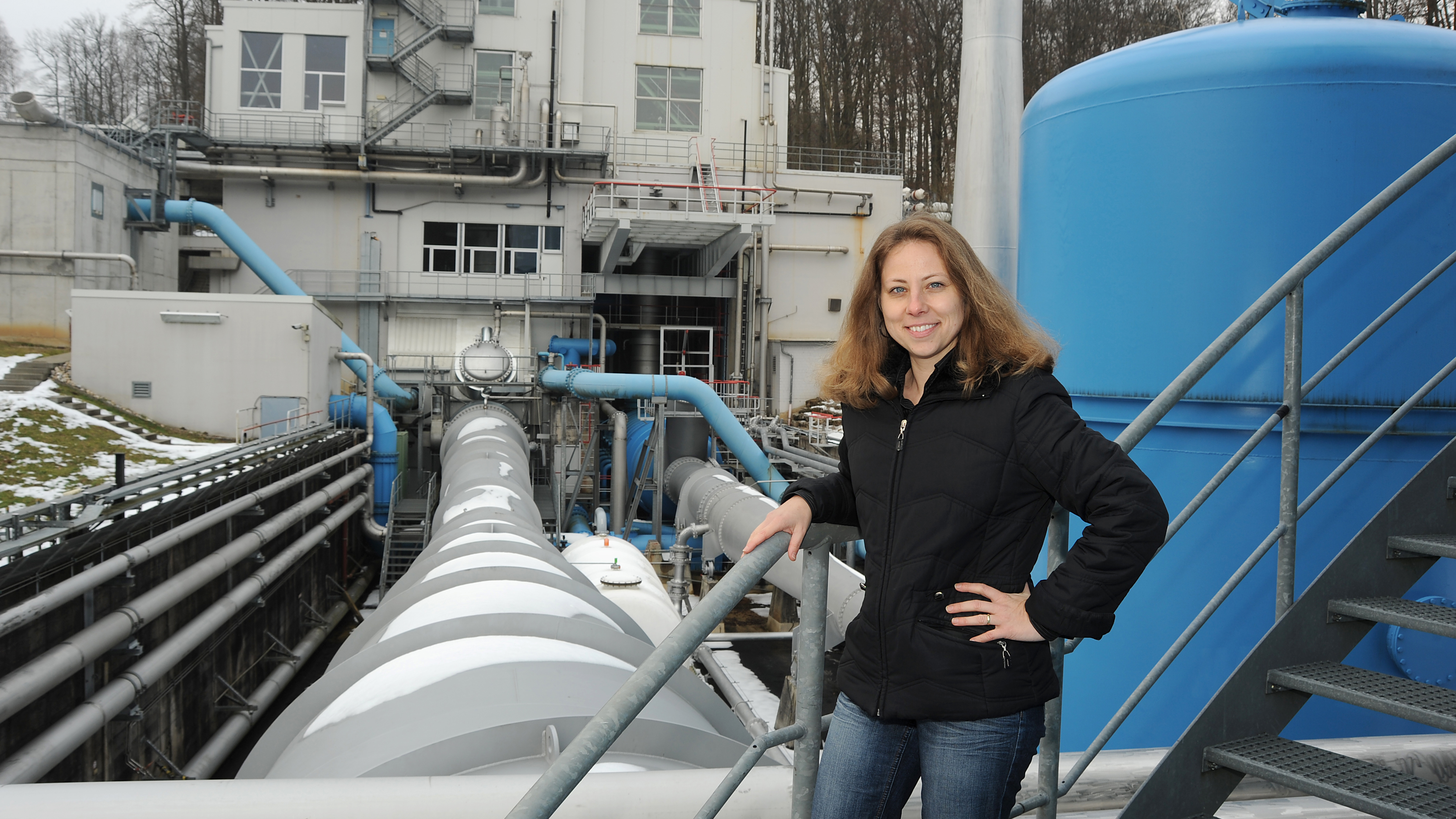 Mistress of test stands and steam generators  Anja Frank