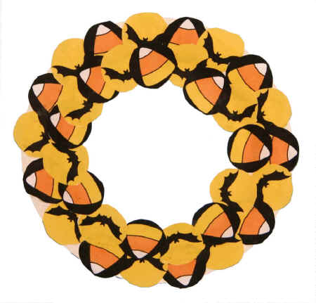 wreath template for kids # 43
