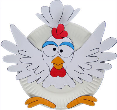 Paper Plate Chicken Craft