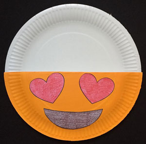 Valentine's Day card holder emoji craft