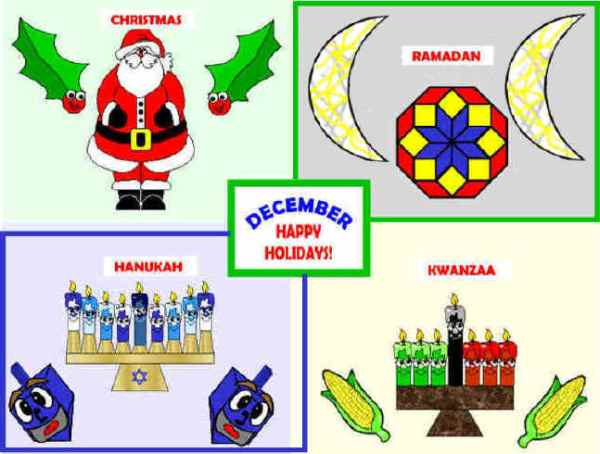 December MultiCultural Holidays Bulletin Board Projects
