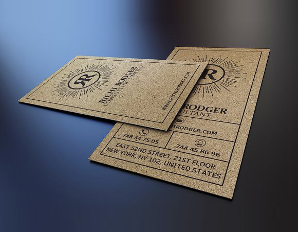 Aed 95 For 100 Craft Business Cards By Deluxe Printing In Dubai
