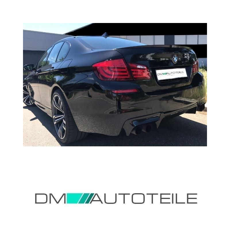 rear bumper designed for 4 exhaust pipes diffuser for park assist suitable for f10 m5 conversion
