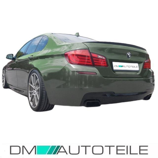 rear diffuser duplex left right fits on bmw f10 f11 m sport bumper 550i