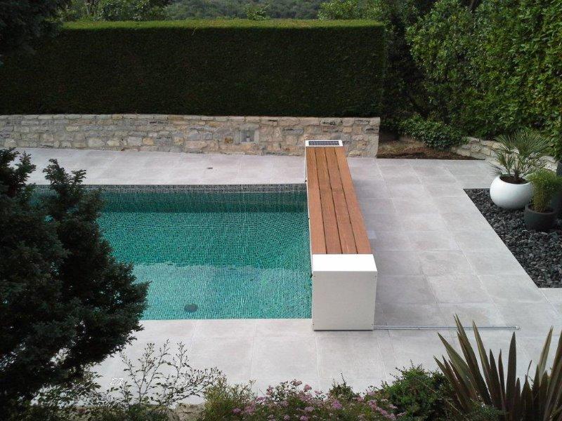 Afdekking dm zwembaden for Opbouw zwembaden
