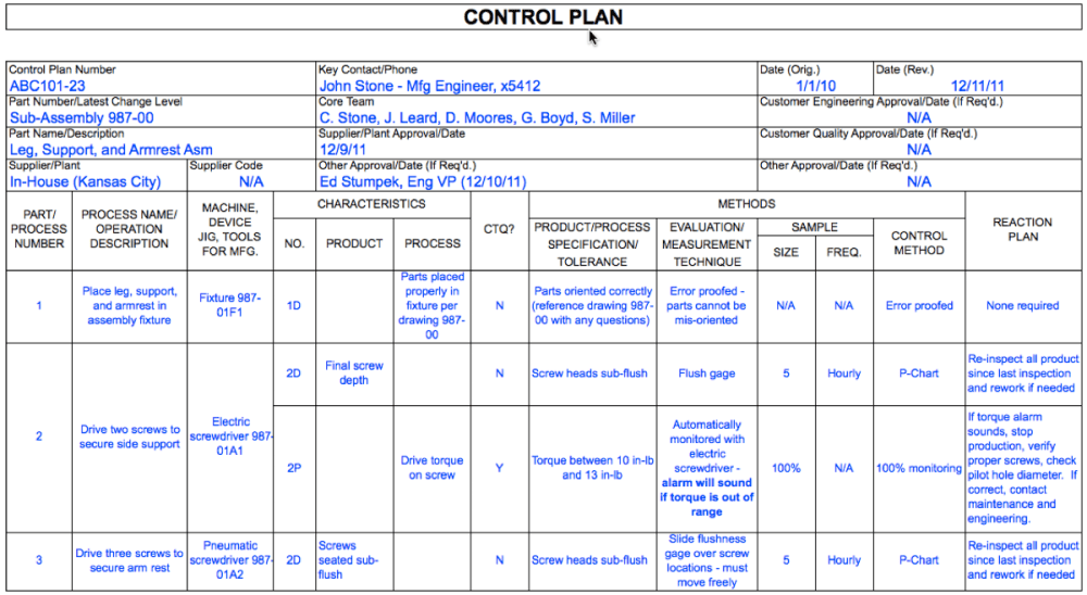 medium resolution of control plan traditional and streamlined excel templates planning doc s