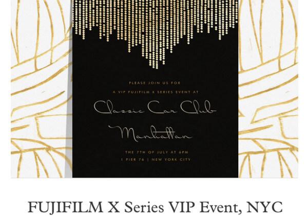 Fujifilm X-T2 VIP Event