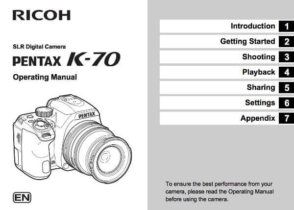 Pentax K-70 manual