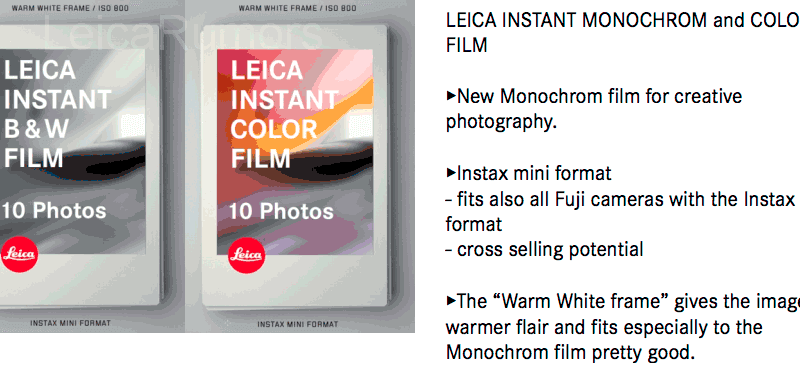 Leica Sofort instant camera will be announced on September 15th