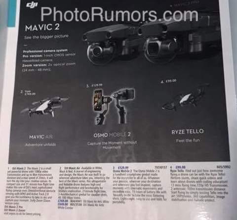 Photrumors : More DJI Mavic 2 drone leaks