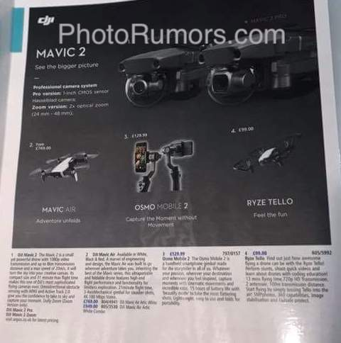 Photrumors : More DJI Mavic 2 drone leaks