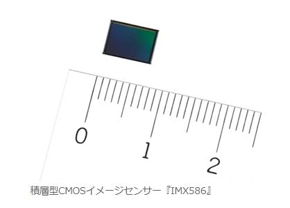 SONY 業界最多有効4800万画素のスマートフォン向け積層型CMOSイメージセンサーを商品化 IMX586