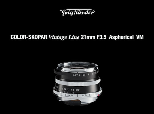 Cosina Voigtländer Color-Skopar Vintage Line 21mm f/3.5 Aspherical VM-Mount
