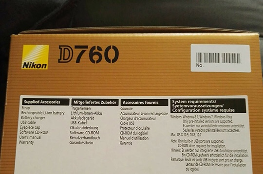 Nikon D760 Package leak