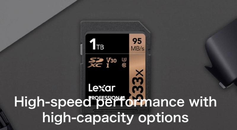 Lexar® Professional 633x SDHC™/SDXC™ UHS-I cards