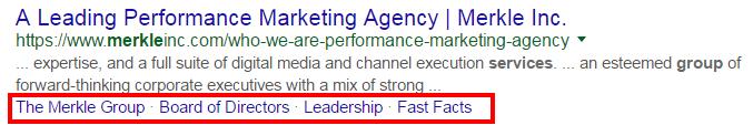 Googleのサイトリンク数減少が与えた影響 by Merkle サイトリンクが無くなった後