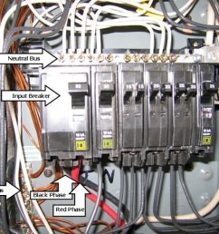 electrical distribution the 50 amp input circuit breaker is double  [ 1024 x 768 Pixel ]