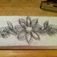 String Art Nails Wood - NailArts Ideas