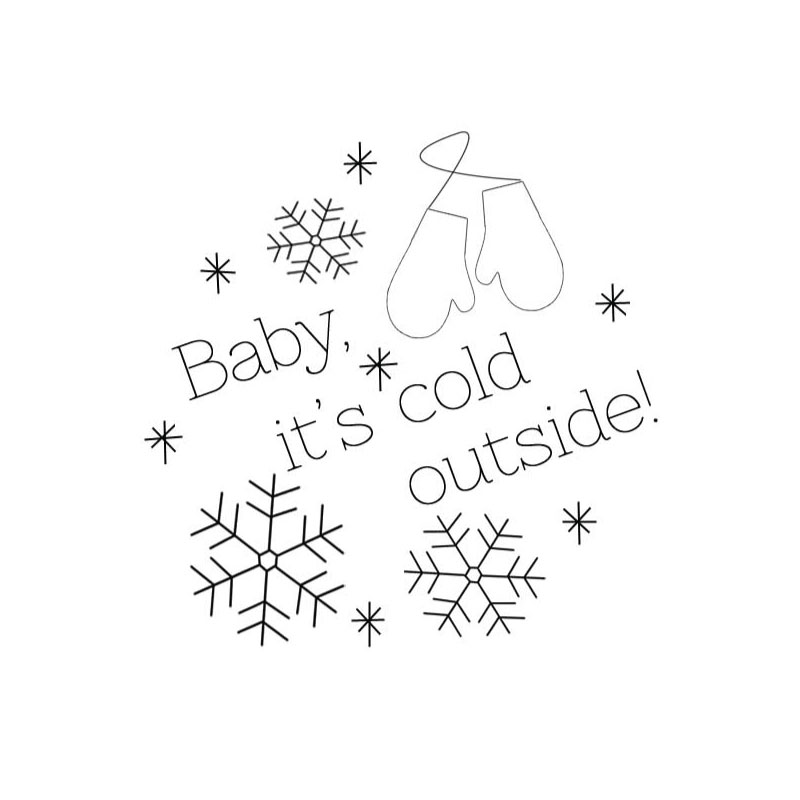 Baby It's Cold Outside Embroidery Pattern