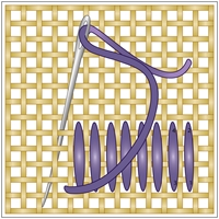 needlepoint stitches stitch diagrams toyota land cruiser alternator wiring diagram long caption this textured is similar to the satin and can be used fill in large areas of canvas