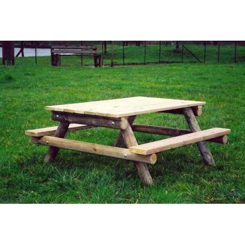 table de pique nique en bois pour enfants