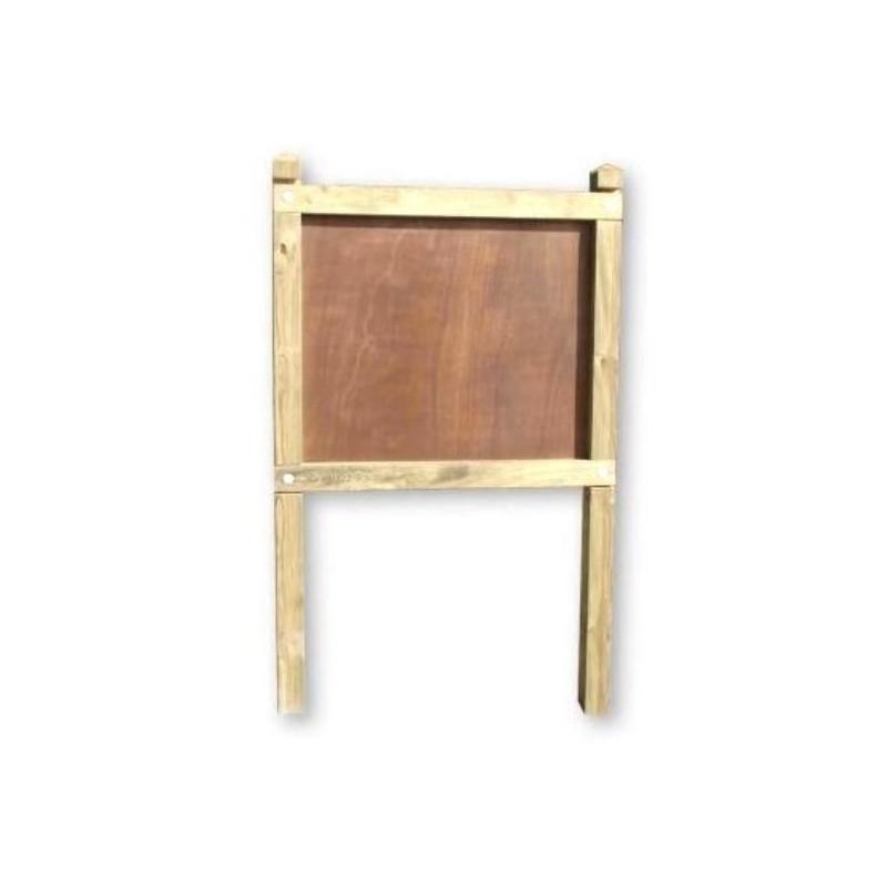 planimetre classique poteaux carres panneau bois