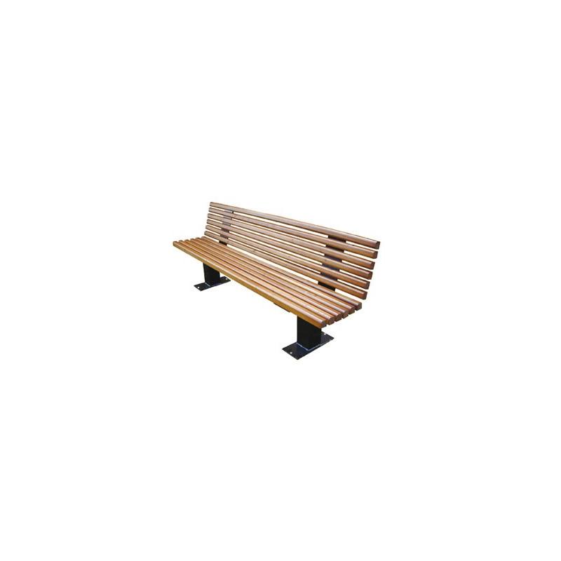 banc public houston avec lames de bois resineux naturel