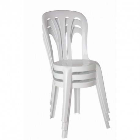 chaise blanche polypro empilable