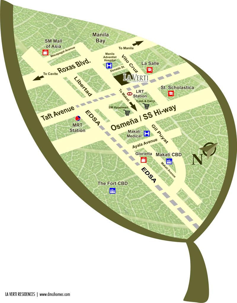 La Verti Loacation Map