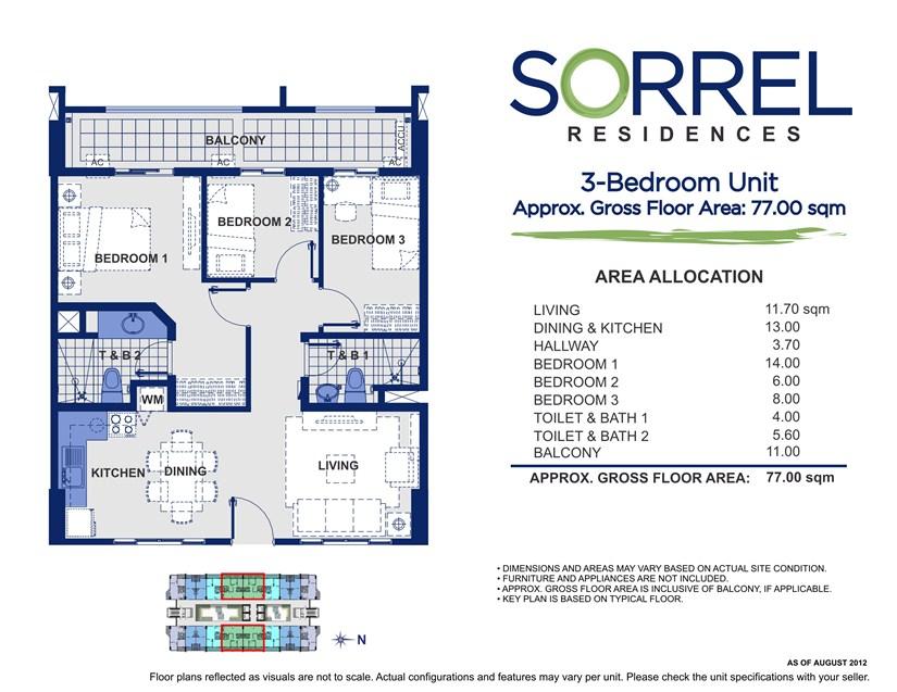Sorrel 3 Bedroom