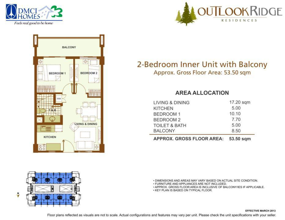 2 Bedroom Inner with Balcony