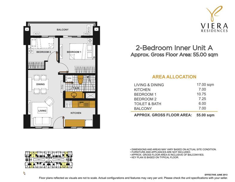 Viera 2BR Inner Unit A