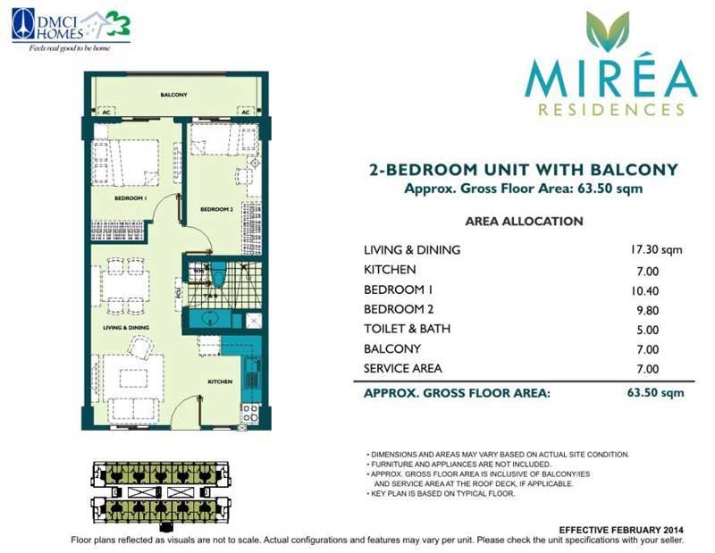 Mirea Residences 2BR 49.5