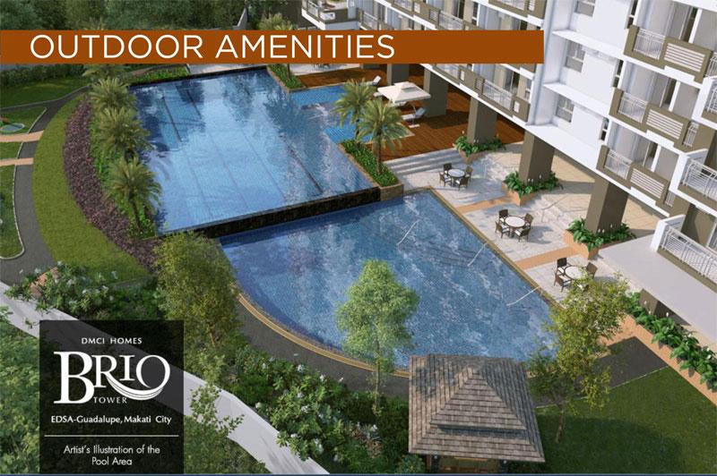 Brio Tower Pool Area