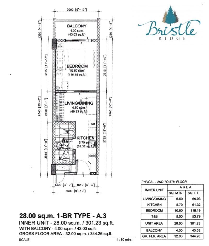 Bristle Ridge Baguio 1 Bedroom Layout