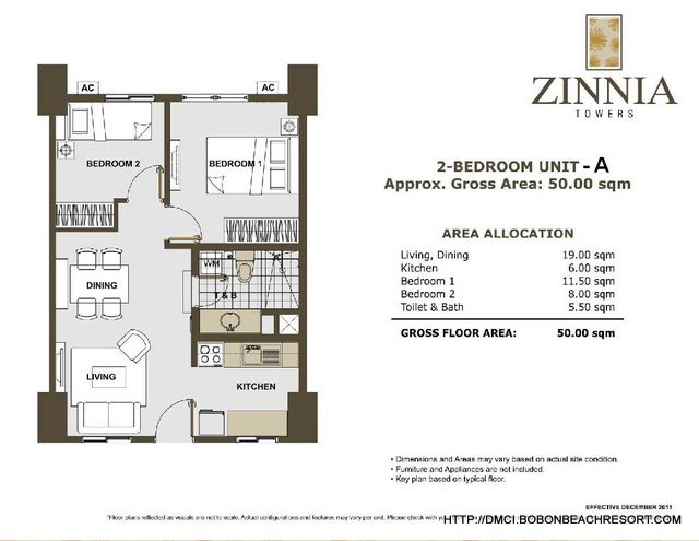 Zinnia Towers 2 Bedroom A
