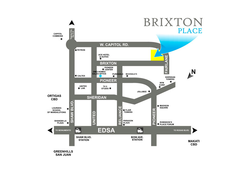 Brixton Place Location