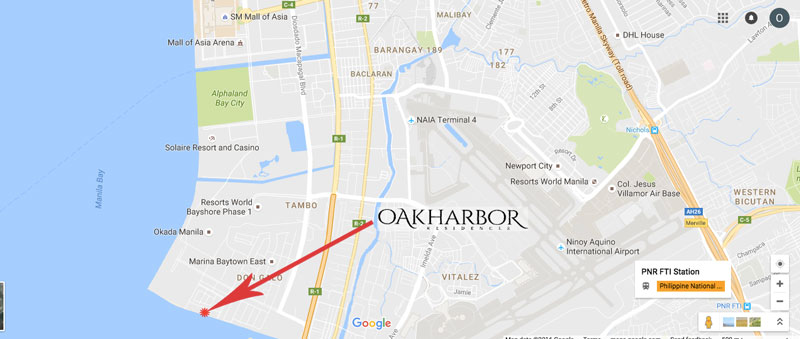Oak Harbor Residences Location Map
