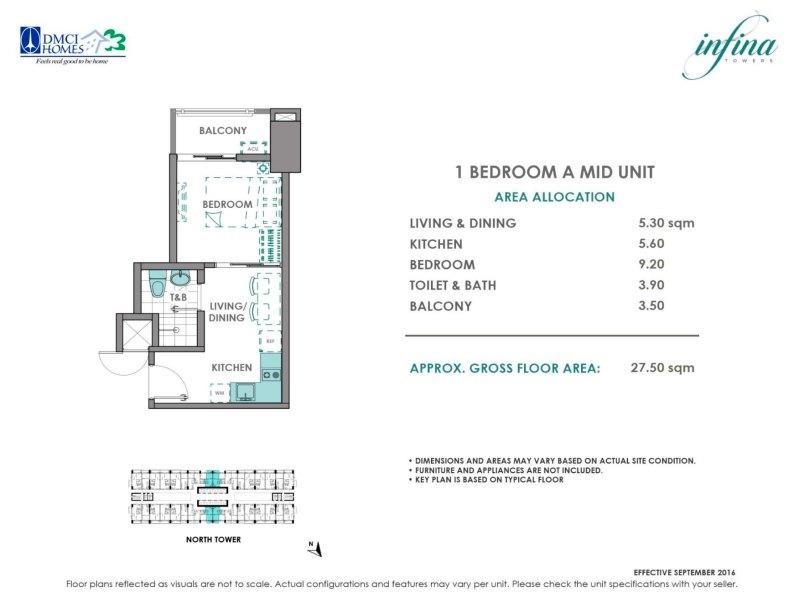 1 Bedroom A (2.41M - 2.81M)